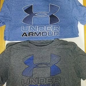 (2) Under Armour boys shirts Large